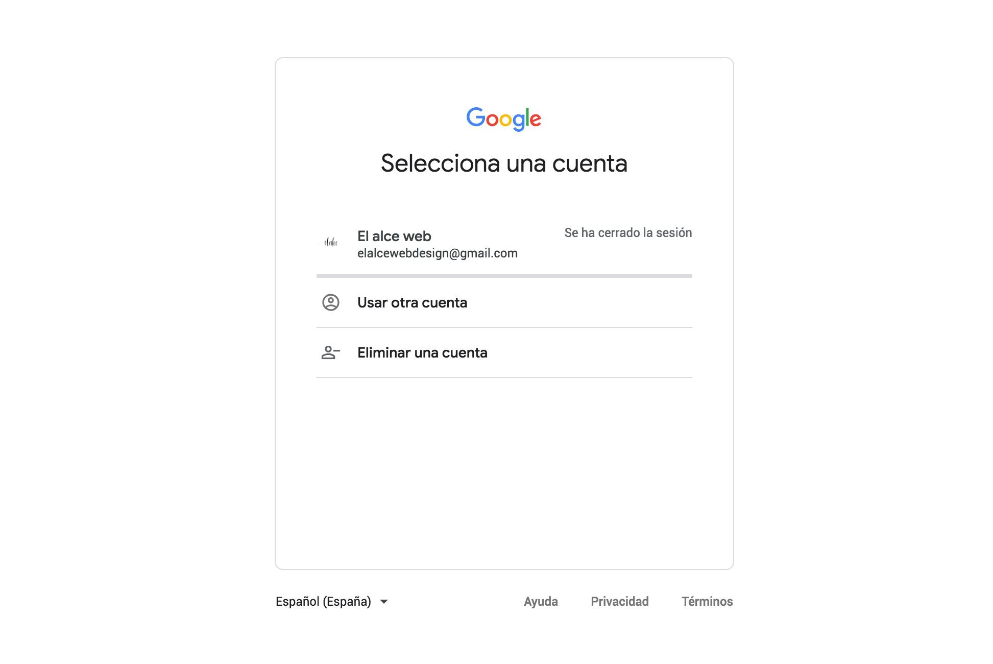pantalla correo gmail usuario y contraseña
