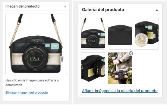producto ecommerce diferentes imagenes de un bolso disaster design