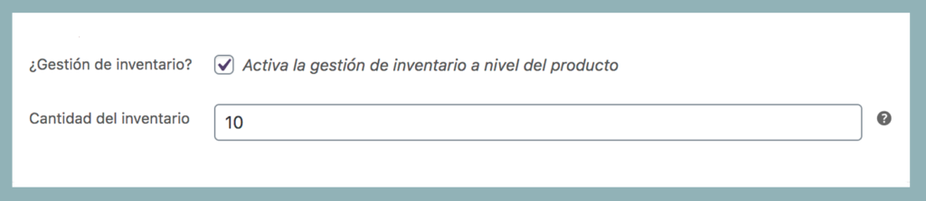Imagen gestión de inventario para stock en woocommerce