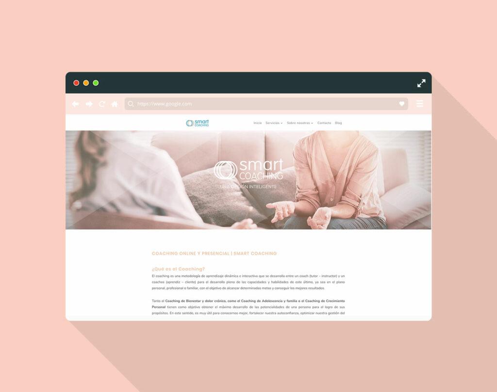 Captura de pantalla de web smart coaching para mostrar el inicio